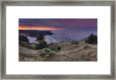Cascade Head Scenic Area Framed Print by Leland D Howard