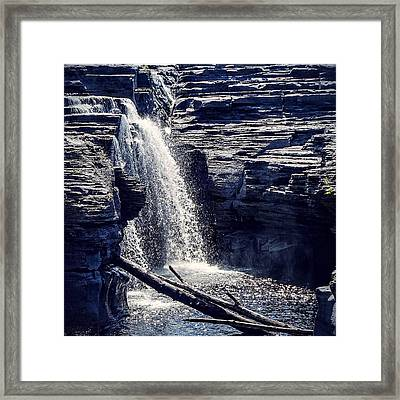 Framed Print featuring the photograph Cascade by Kendall McKernon