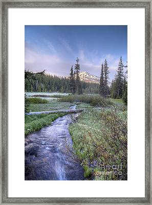 Cascade Morning Framed Print by Twenty Two North Photography