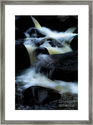 Cascade Of Color Framed Print