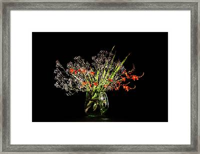 Cascade Of White And Orange. Framed Print by Torbjorn Swenelius