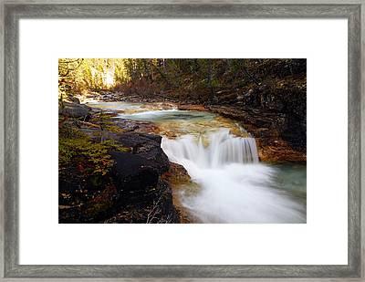Cascade On Beauty Creek Framed Print by Larry Ricker