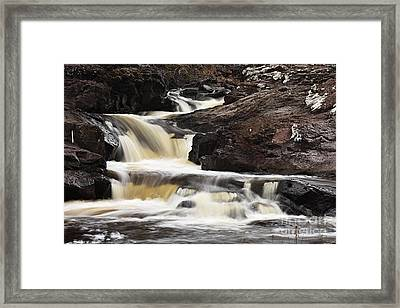 Framed Print featuring the photograph Cascade On The Two Island River by Larry Ricker