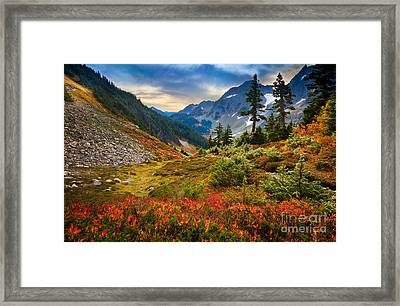 Cascade Pass Fall Framed Print by Inge Johnsson
