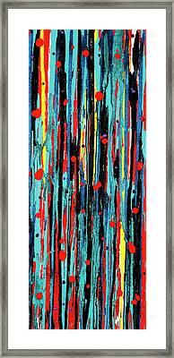 Framed Print featuring the painting Cascade Pour by Carolyn Repka