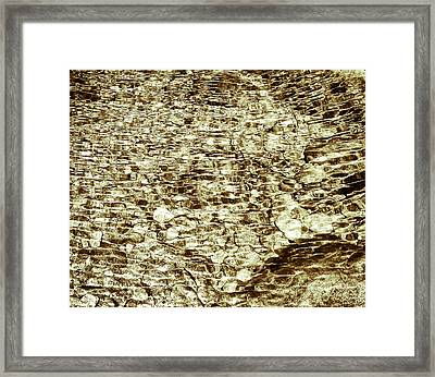 Framed Print featuring the photograph Cascade Reflections by Tom Vaughan