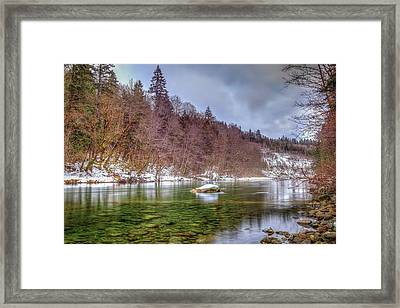Framed Print featuring the photograph Cascade River Rocks by Spencer McDonald