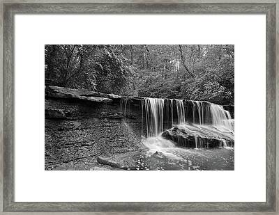 Cascade Framed Print by Russell Todd