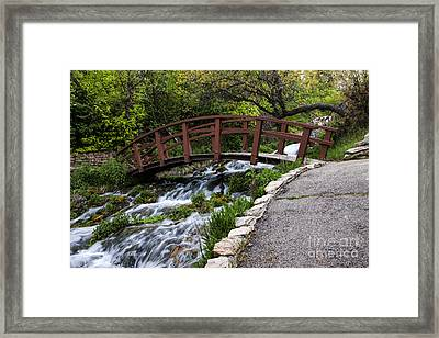 Cascade Springs Bridge Framed Print