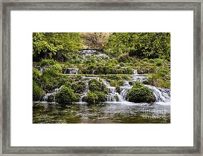 Cascade Springs Utah Framed Print