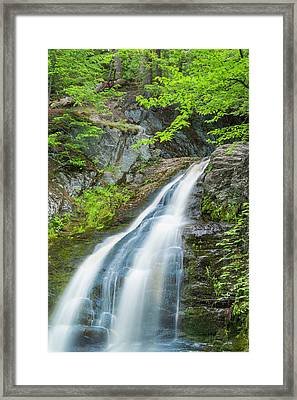 Framed Print featuring the photograph Cascade Waterfalls In South Maine by Ranjay Mitra