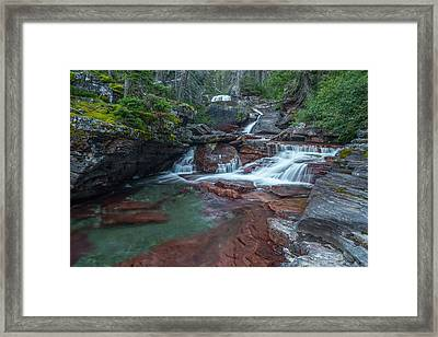 Framed Print featuring the photograph Cascades by Gary Lengyel