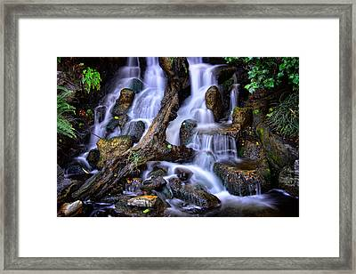 Framed Print featuring the photograph Cascades by Harry Spitz