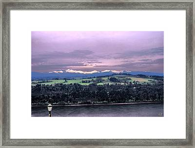 Cascades Framed Print by John Winner
