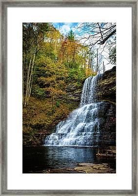 Cascades Lower Falls Framed Print