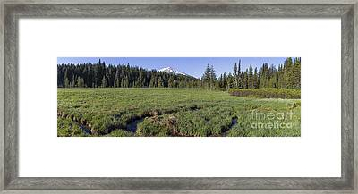 Cascades Meadow Panorama Framed Print by Twenty Two North Photography