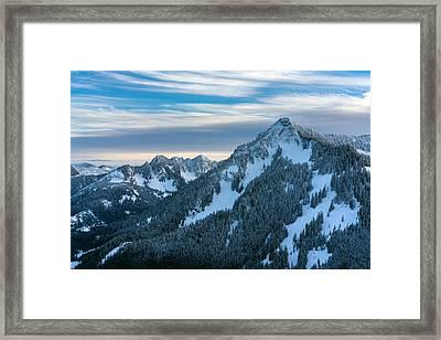 Cascades Mountain Range Closeup Framed Print by Mike Reid