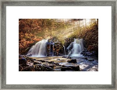 Framed Print featuring the photograph Cascades Of Light by Debra and Dave Vanderlaan