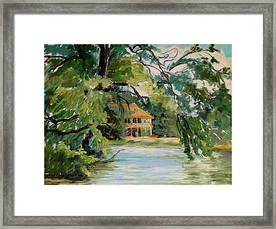 Cascadilla Boathouse Ithaca New York Framed Print by Ethel Vrana