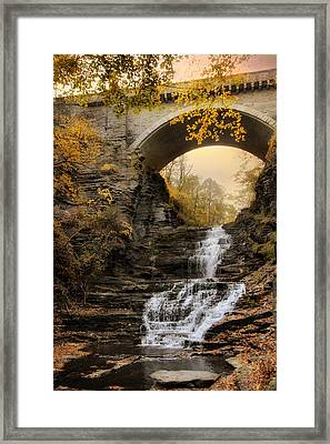 Cascadilla Falls Framed Print by Jessica Jenney