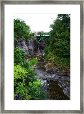 Cascadilla Gorge Cornell University Ithaca New York 01 Framed Print by Thomas Woolworth