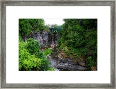 Cascadilla Gorge Cornell University Ithaca New York 02 Framed Print by Thomas Woolworth