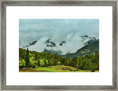 Cascading Storm Clouds Framed Print