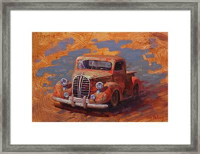 Cascading Color Framed Print