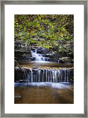 Cascading Framed Print by Debra and Dave Vanderlaan