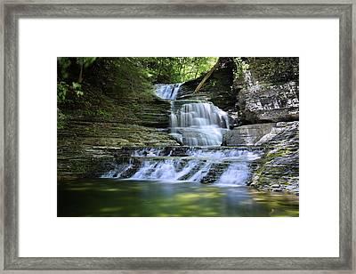 Cascading Descent Framed Print