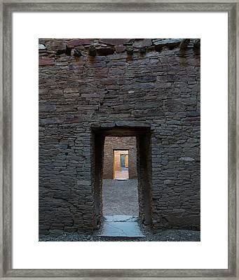 Cascading Doors Framed Print by Joseph Smith