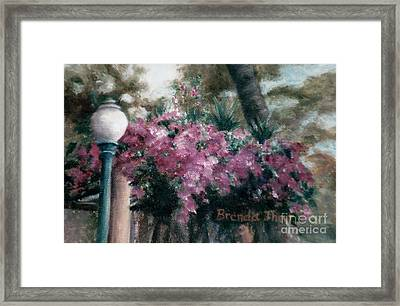 Framed Print featuring the painting Cascading Flowers by Brenda Thour