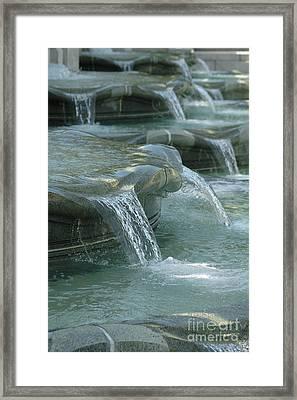 Cascading Fountain Framed Print