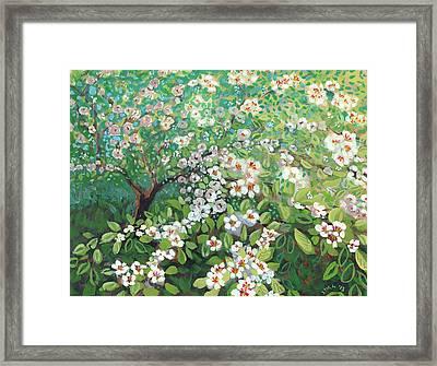 Cascading Framed Print by Jennifer Lommers