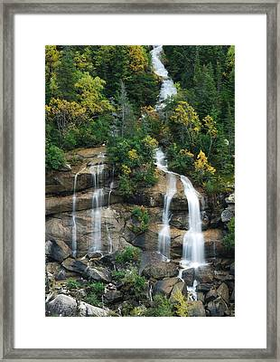 Cascading Skagway Waterfall  Framed Print by Michael Peychich