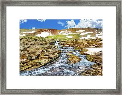 Cascading Source Stream Framed Print by Daniel Dean