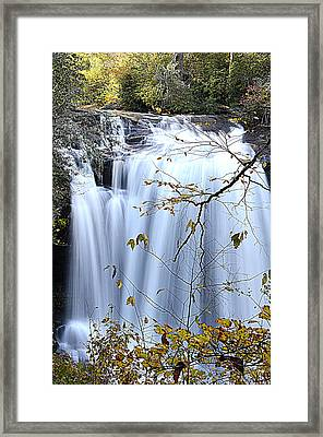 Cascading Water Fall Framed Print