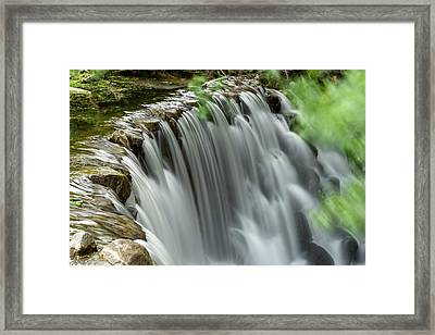 Cascading Water Framed Print