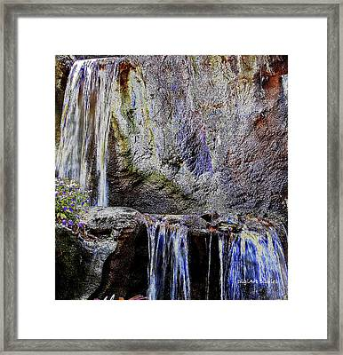 Cascading Water Solarized Framed Print