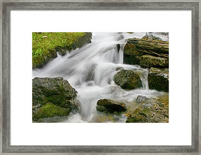 Cascading Waters Framed Print by Crystal Garner