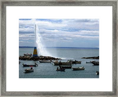 Cascais Fishing Boats Portugal Framed Print