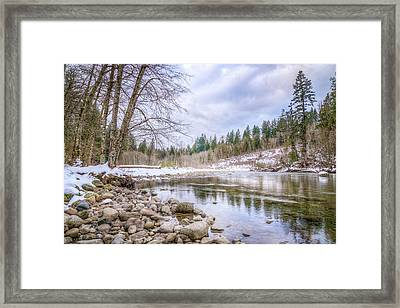 Framed Print featuring the photograph Cascasde Mountain Landscape by Spencer McDonald