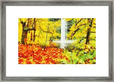 Cascata Framed Print by Diretorio do Design - DD