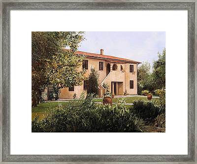 Cascina Toscana Framed Print by Guido Borelli