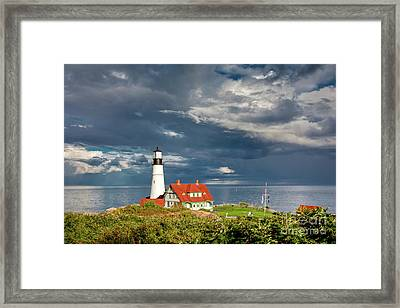 Casco Bay Lookout Framed Print by Susan Cole Kelly