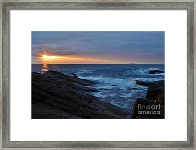 Casco Bay Framed Print by Paul Noble
