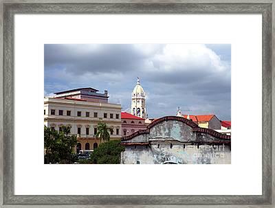 Casco Viejo Framed Print by John Rizzuto