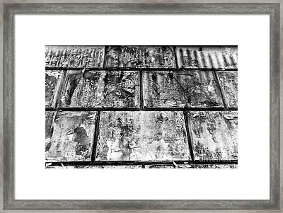 Casco Viejo Tiles Mono Framed Print by John Rizzuto