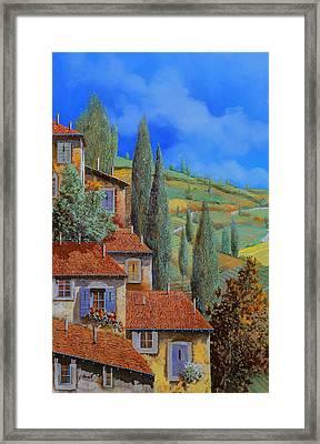 Case Appoggiate Framed Print