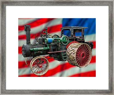 Case Steam Tractor Framed Print